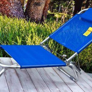 Sillita playa aluminio azul